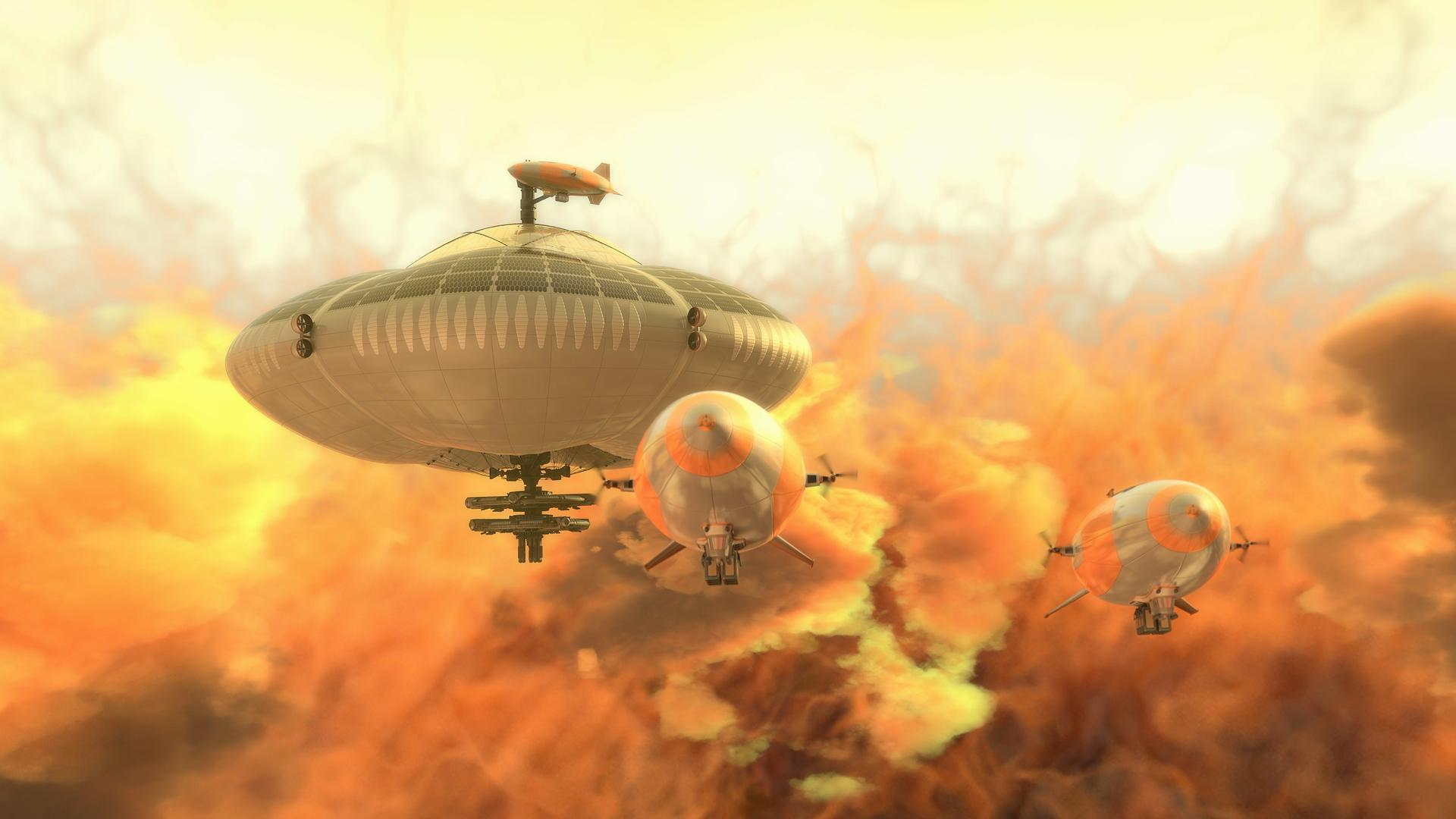 Venus Cloud City supplied by Airships