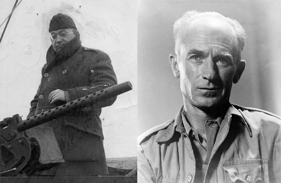 Liebling, Pyle - portrait images side by side.