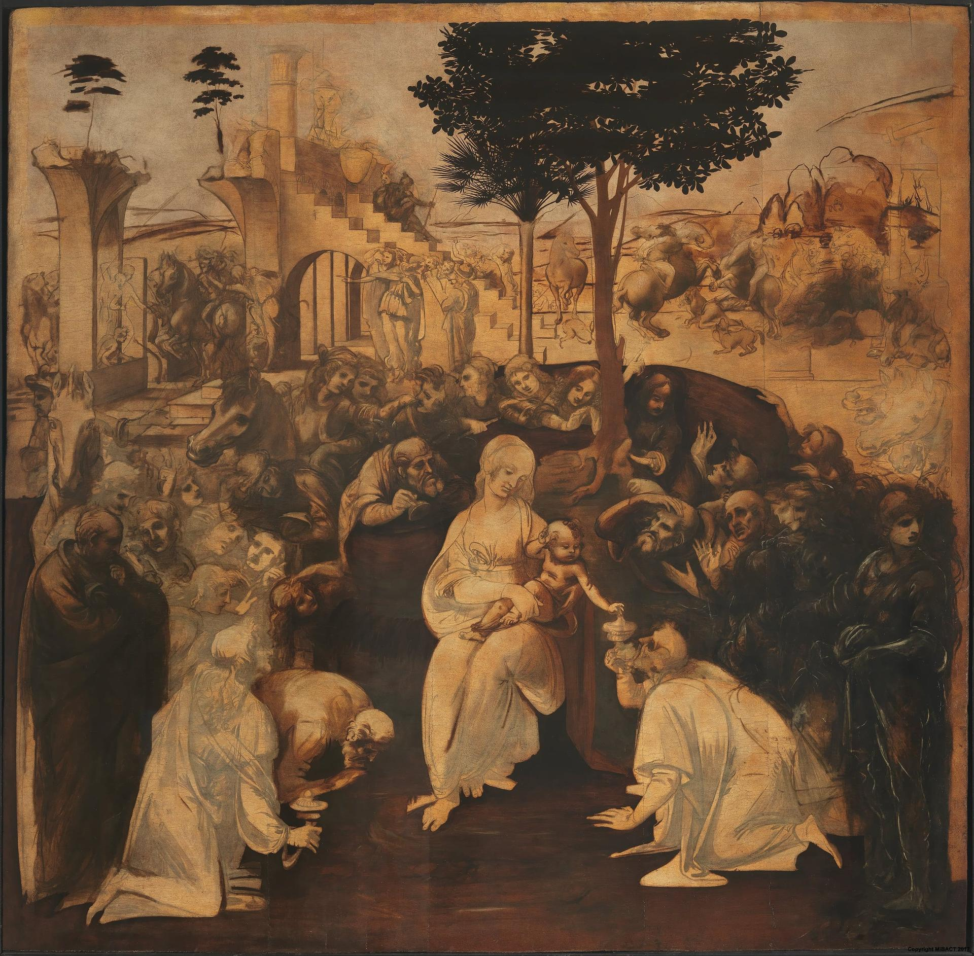 Adoration of the Magi by Leonardo