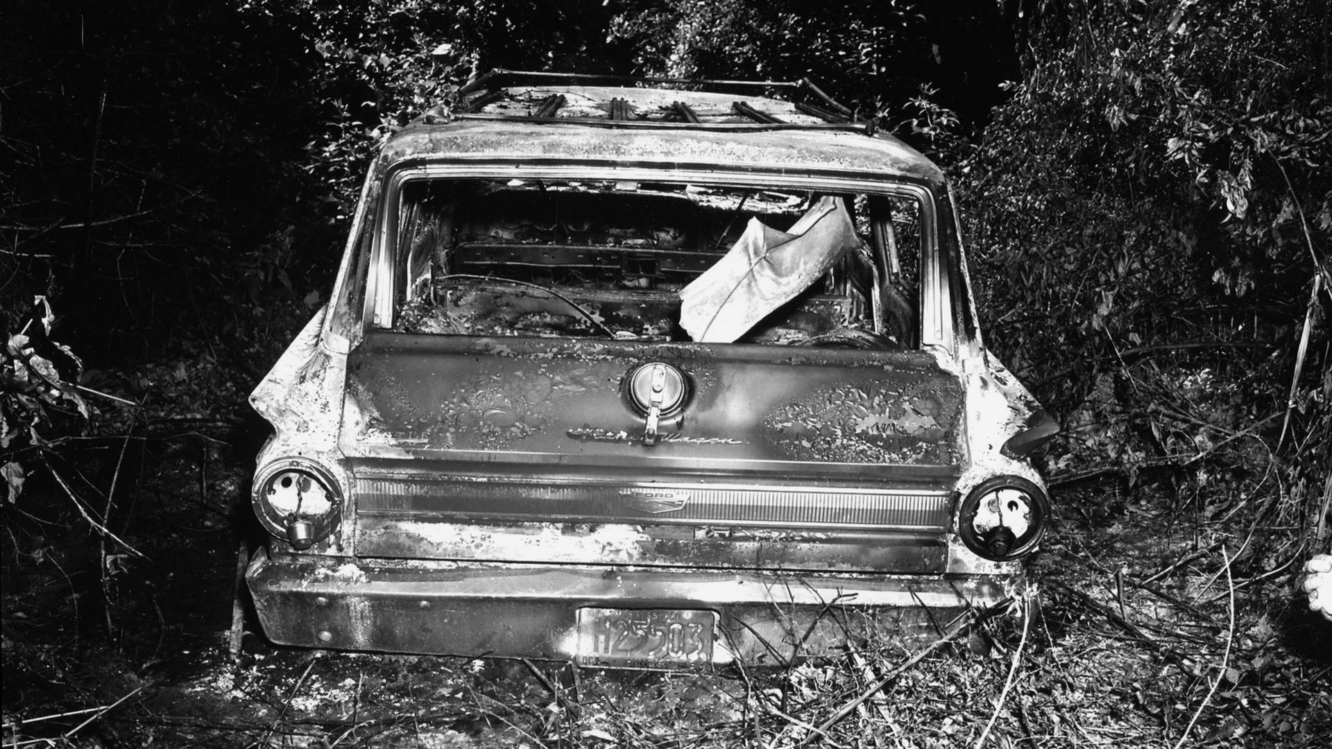 Remains of murdered men's car
