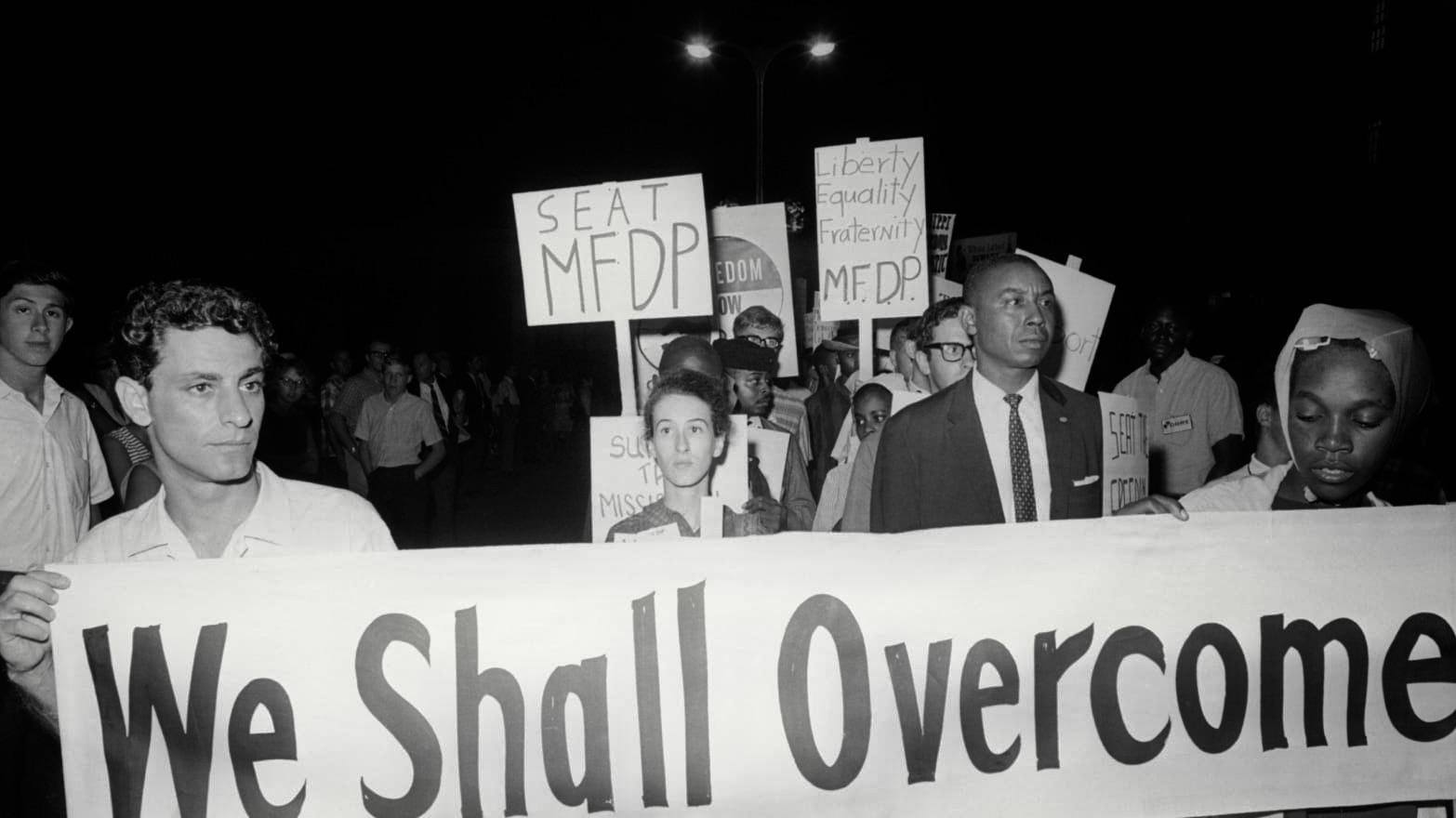 Civil Rights proterters Bob Moses We Shall Overcome