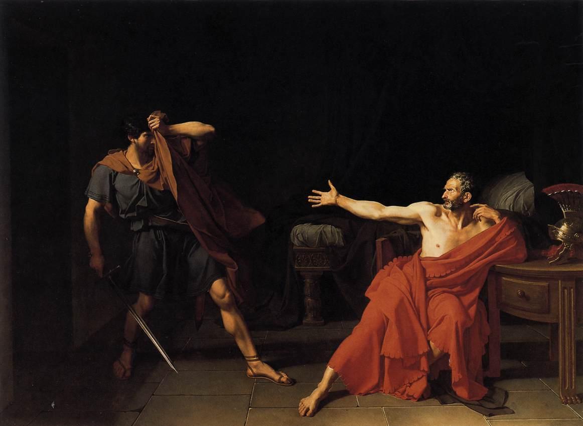 Sulla's soldier refuses to kill Marius after his defeat. (Image Credit:Jean-Germain Drouais, Public Domain)