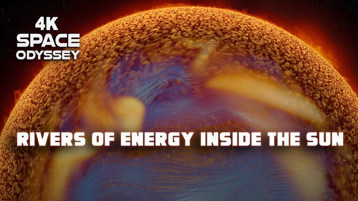 Rivers of Energy Inside the Sun 4k